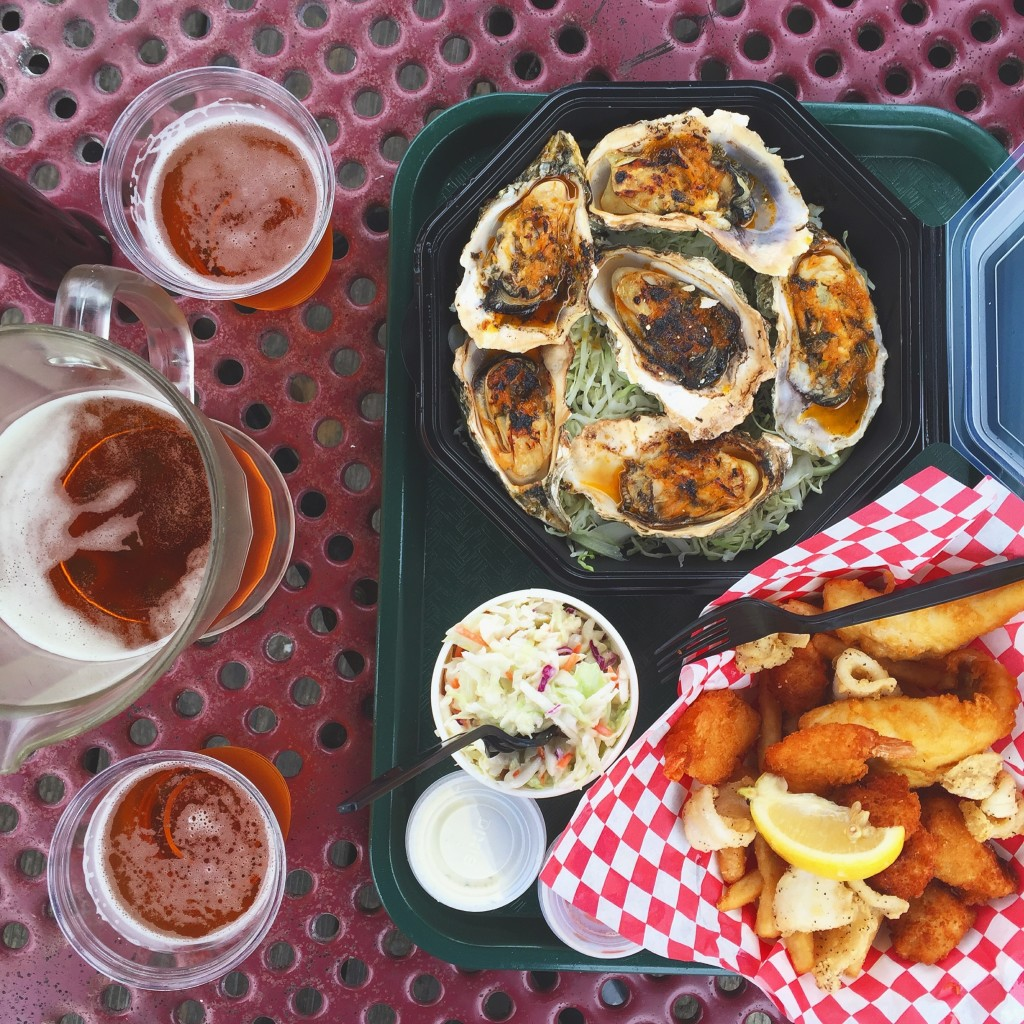 Giovanni's BBQ Oysters and Mixed Seafood Basket in Morro Bay, California | The 3 Star Traveler
