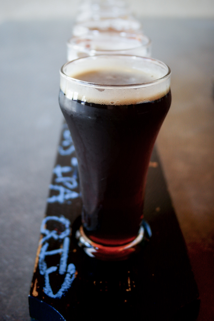 Tasting Flight at Iron Horse Brewery in Ellensburg, Washington