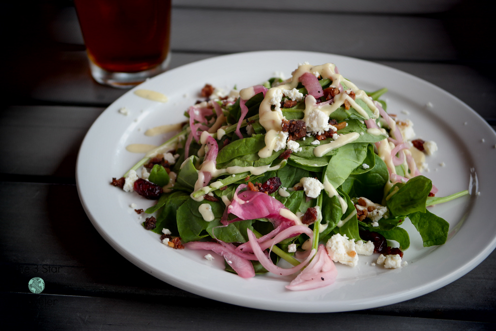 Spinach Salad from Cornerstone Pie in Ellensburg | The 3 Star Traveler