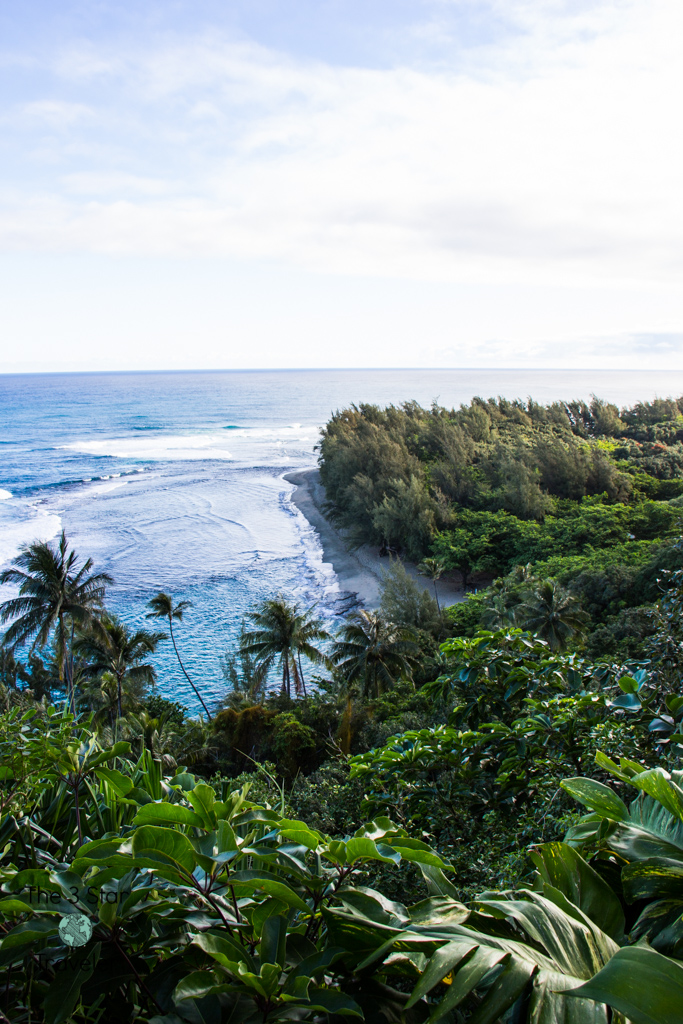 View of Ke'e Beach from the Kalalau Trail Kauai | 5 Ways to Stay Active in Kauai | The 3 Star Traveler