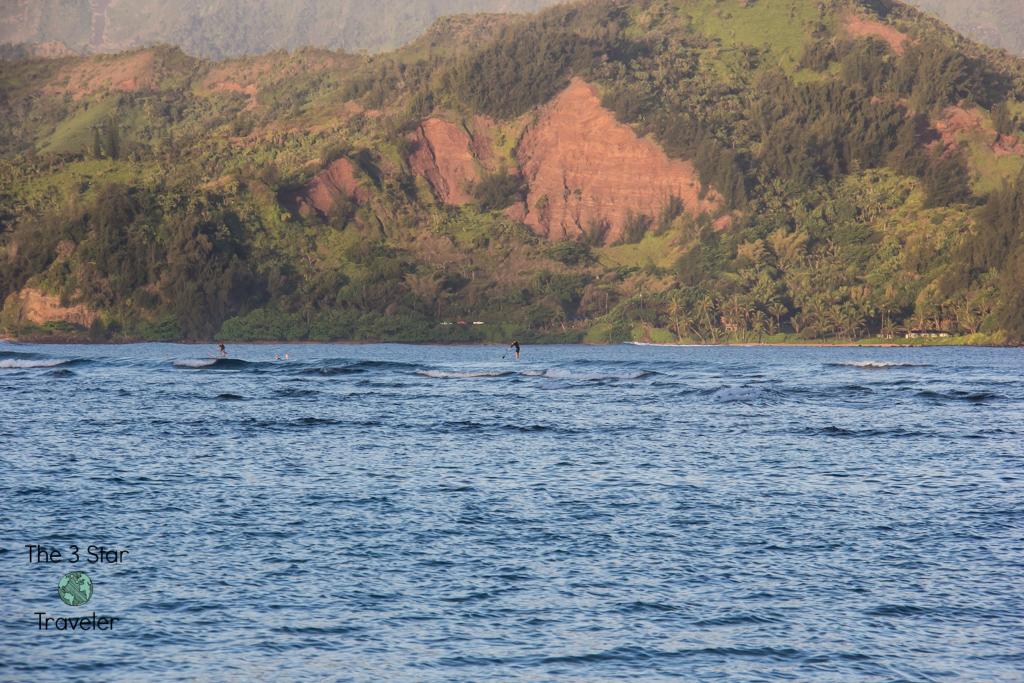 The view from Pu'u Poa Beach in Kauai